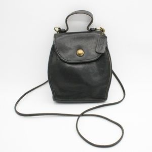 RARE Coach Vintage Black Mini Cross Body Bag